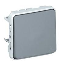 LEGRAND - Poussoir NO Prog Plexo composable gris - 10 A - Ref 069540