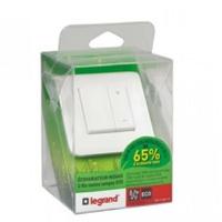 LEGRAND - Ecovariateur toutes charges 2 fils Prog Mosaic - livré complet blanc - Ref - 048870