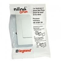 LEGRAND - Poussoir Niloé - lumineux - 6 A - 250 V - Pur - Niloe one - Réf - 664124