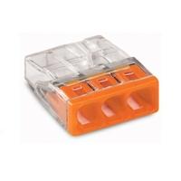 Wago - Boîte de 100 Bornes pour boîtes de dérivation COMPACT borne à 3 conducteurs - REF 2273-203