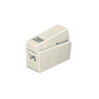 WAGO - Boîte de 100 Bornes de connexion pour luminaires - 3 pôles - blanc - REF 224-112