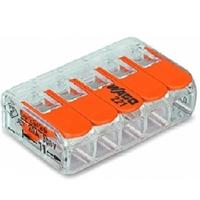 WAGO - Borne de connexion 5 entrées pour boîte de dérivation - REF 221-415