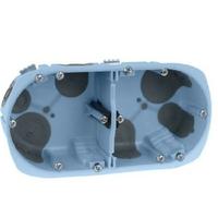 Eur'Ohm - Boite d'encastrement pour cloison sèche - XL Air'Métic - 2 postes - Ø 67mm - Profondeur 50mm - REF 52065