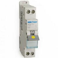 HAGER - Disjoncteur 1P+N 3kA C - 10A 1 Module - A vis - Ref MFN710