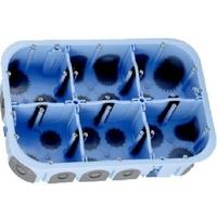 Eur'Ohm - Boite d'encastrement pour cloison sèche - XL Air'Métic - 2x3 postes - Ø 67mm - Profondeur 50mm - REF 51020