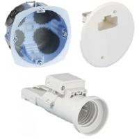 Eur'ohm - Kit applique DCL + fiche/douille E27 - ø 67mm - REF 53077