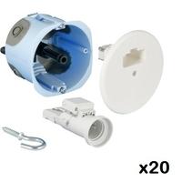 LOT - EUROHM - 20 Kits DCL point de centre + fiche/douille E27 - ø 67 mm - REF - 53062
