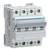 HAGER -  Disjoncteur 4P 6-10kA courbe C - 10A 4 modules - Ref NFN410