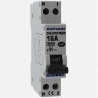 Eur'ohm - Disjoncteur 1P+N 16A NF,cx vis haut/bas 3kA - Réf 20016