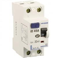 Eur'ohm - Interrupteur différentiel 1P+N - 40 A / 30 mA - Réf 23140
