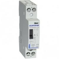Eur'ohm - Contacteur tarif heures creuses - 4P - 20 A - 4F- Réf 30111