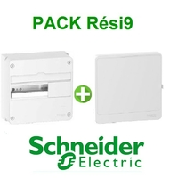 SCHNEIDER ELECTRIC - Pack Resi9 - Coffret + Porte  Resi9 13 modules - REF - Resi9131