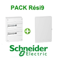 SCHNEIDER ELECTRIC - Pack Resi9 - Coffret + Porte - Resi9 -13 modules - 2 Rangées - REF - Resi9132