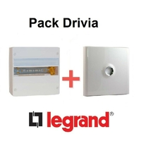 LEGRAND - Pack Drivia - Coffret + Porte -13 modules - 1 Rangées - REF - Drivia211