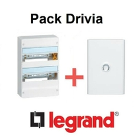 LEGRAND - Pack Drivia - Coffret + Porte -13 modules - 2 Rangées - REF - Drivia212