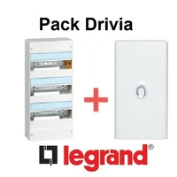 LEGRAND - Pack Drivia - Coffret + Porte -13 modules - 3 Rangées - REF - Drivia213