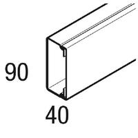 REHAU - Goulotte - LE - 90X40 - 2 metres - REF - 727864-100