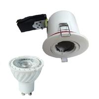 Support spot Orientable BBC 100 mm + douille automatique + Lampe GU10 3000K Elec55