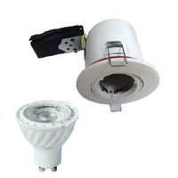 MIIDEX - Support spot fixe BBC  88 mm + douille automatique + Lampe GU10 4000K