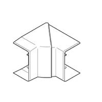 REHAU - Angle Extérieur Variable pour goulotte Clidi - 90 x 55 - Réf - 735807-100