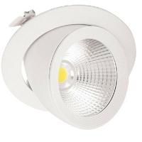 MIIDEX - Spot LED Encastrable Escargot Rond Inclinable /Orientable - Alimentation Electronique 40W 4000K - REF - 76742