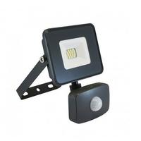 MIIDEX - Projecteur LED 10W (90W) IP65 plat gris jour 4000K avec détecteur - REF - 80302