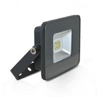 MIIDEX - Projecteur LED 10W IP65 plat gris jour 6000K sans détecteur - REF - 80011