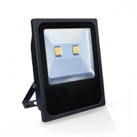 MIIDEX - Projecteur LED 100W IP65 plat gris jour 4000K sans détecteur - REF - 80455