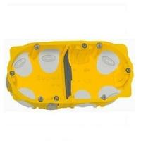 LEGRAND - Boîte double Encastrement multiposte Prog.Ecobatibox prof. 40 mm – 4/5 modules ref 080022