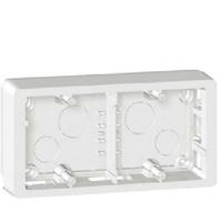 LEGRAND - Cadre saillie Céliane - 2 postes horiz/vert - blanc- REF 080242