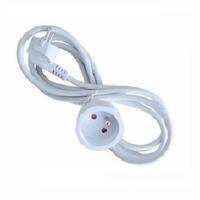 Rallonge électrique Blanche 3x1.5mm - Longueur 10m - REF - 7003712