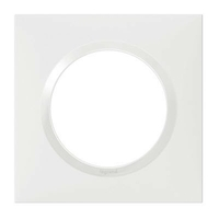 LEGRAND - Plaque carrée Dooxie 1 poste finition blanc - REF 600801