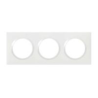LEGRAND - Plaque carrée Dooxie - 3 postes finition blanc - REF 600803