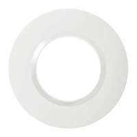 LEGRAND - Plaque Ronde Dooxie 1 poste finition blanc - REF 600980