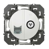 LEGRAND - Prise TV + RJ45 cat6 STP compacte dooxie finition blanc - REF 600352