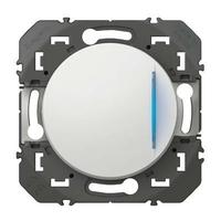 LEGRAND - Poussoir simple avec voyant lumineux dooxie 6A 250V~ finition blanc - REF 600016