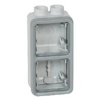 LEGRAND - Boîtier à presse-étoupe 2 postes verticaux ISO20 Plexo composable IP55 - gris - REF 069668