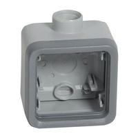 LEGRAND - Boîtier à presse-étoupe 1 poste PG16 Plexo composable IP55 - gris - REF 069652