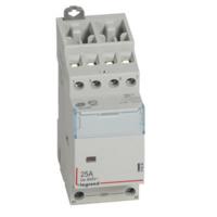 LEGRAND Contacteur de puissance CX³ bobine 230V~ sans commande manuelle - 4P 400V~ - 25A - contact 4O - 2 modules Réf 412536