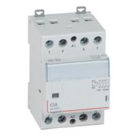 LEGRAND Contacteur de puissance CX³ bobine 230V~ sans commande manuelle - 4P 400V~ - 63A - contact 4F - 3 modules Réf 412541