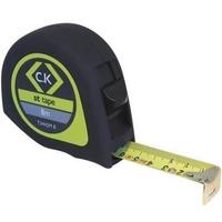 CK Ruban à mesurer Softech 8m métrique avec bouton de verrouillage et de pause Réf T3442M8