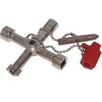 C.K - Clé en croix universelle pour utiliser sur les systèmes de verrouillage électrique, gaz et eau Réf 495002