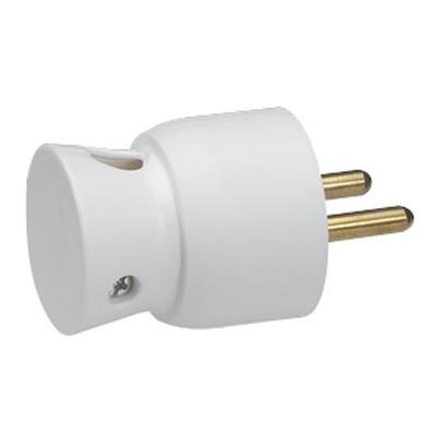 LEGRAND - Fiche plastique 2P+T 16A à sortie latérale - blanc - Réf - 050416