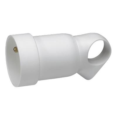 LEGRAND - Prolongateur plastique 2P+T 16A à anneau - blanc - Réf - 050421