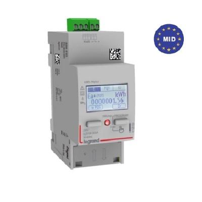 LEGRAND - Compteur modulaire monophasé - Raccordement direct - 63A - Sortie avec RS485 - Réf - 412083