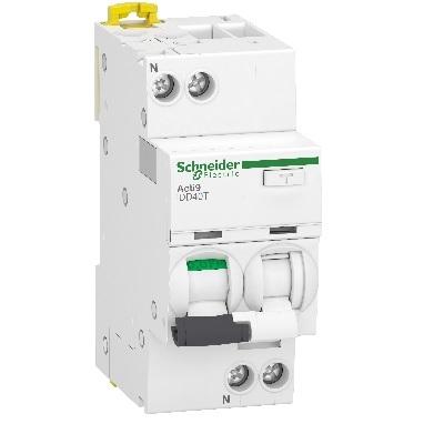 SCHNEIDER ELECTRIC - Acti9 iDD40T Disjonteur Différentiel 1P+N Courbe C 16A 4500A/6kA 30mA type AC Réf A9DA2616