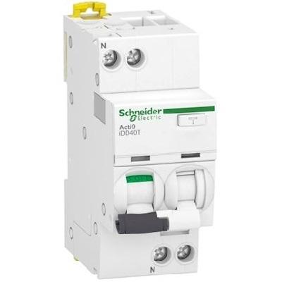 SCHNEIDER ELECTRIC - Acti9 iDD40T - disjoncteur différentiel - 1P+N C 16A 4500A/6kA 30mA type A SI - Réf - A9DB2616