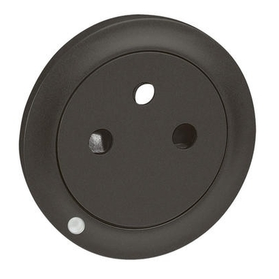 LEGRAND - Enjoliveur Céliane pour prise de courant 2P+T Surface à voyant - finition graphite - Réf - 067915