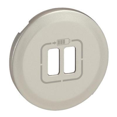 LEGRAND - Enjoliveur Céliane pour chargeur double USB Type-A - finition titane - Réf - 068556