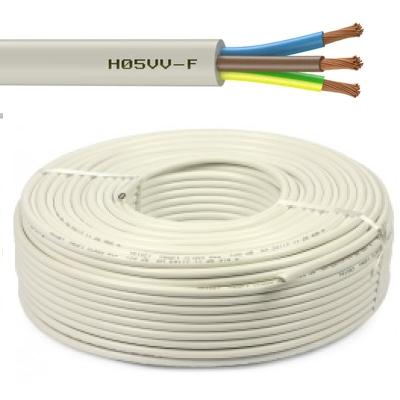 CAE - Câble d'alimentation souple harmonisé 3G1.5mm² - Blanc - Couronne 50m - Réf - HO5VV-F3G1.5